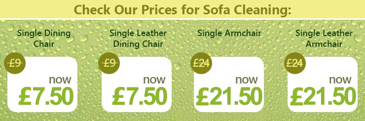 Upholstery and Leather Fabrics Cleaning Prices in W8